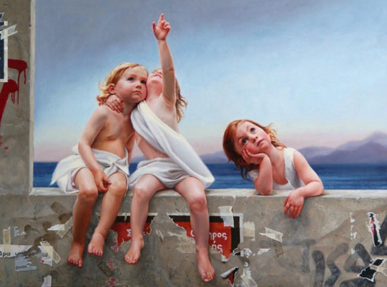 realismo cuadros al oleo de niños